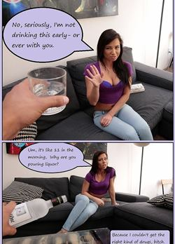 she becomes very whore when she drinks