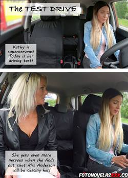 eats her pussy to pass driving test