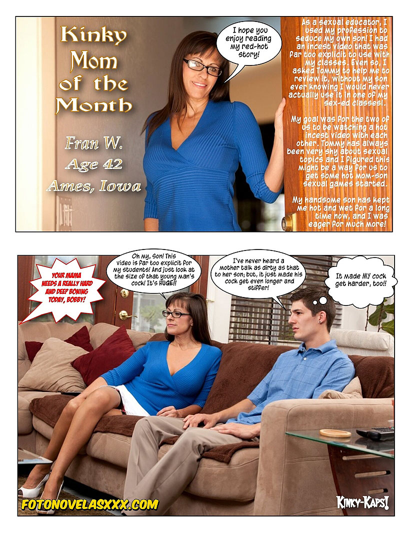 kinky mom of the month photo-comic pag1