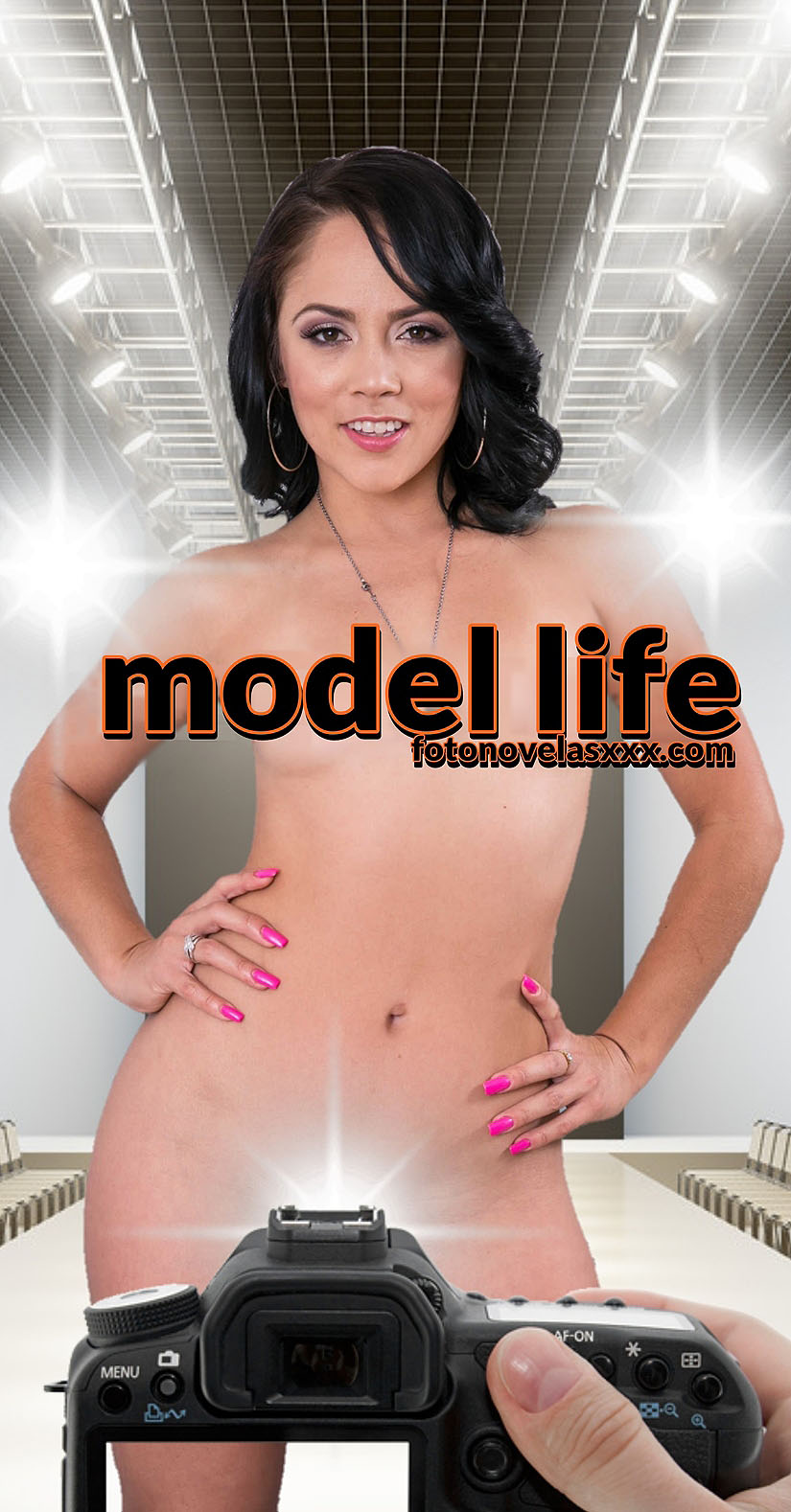 model life photo comic cover