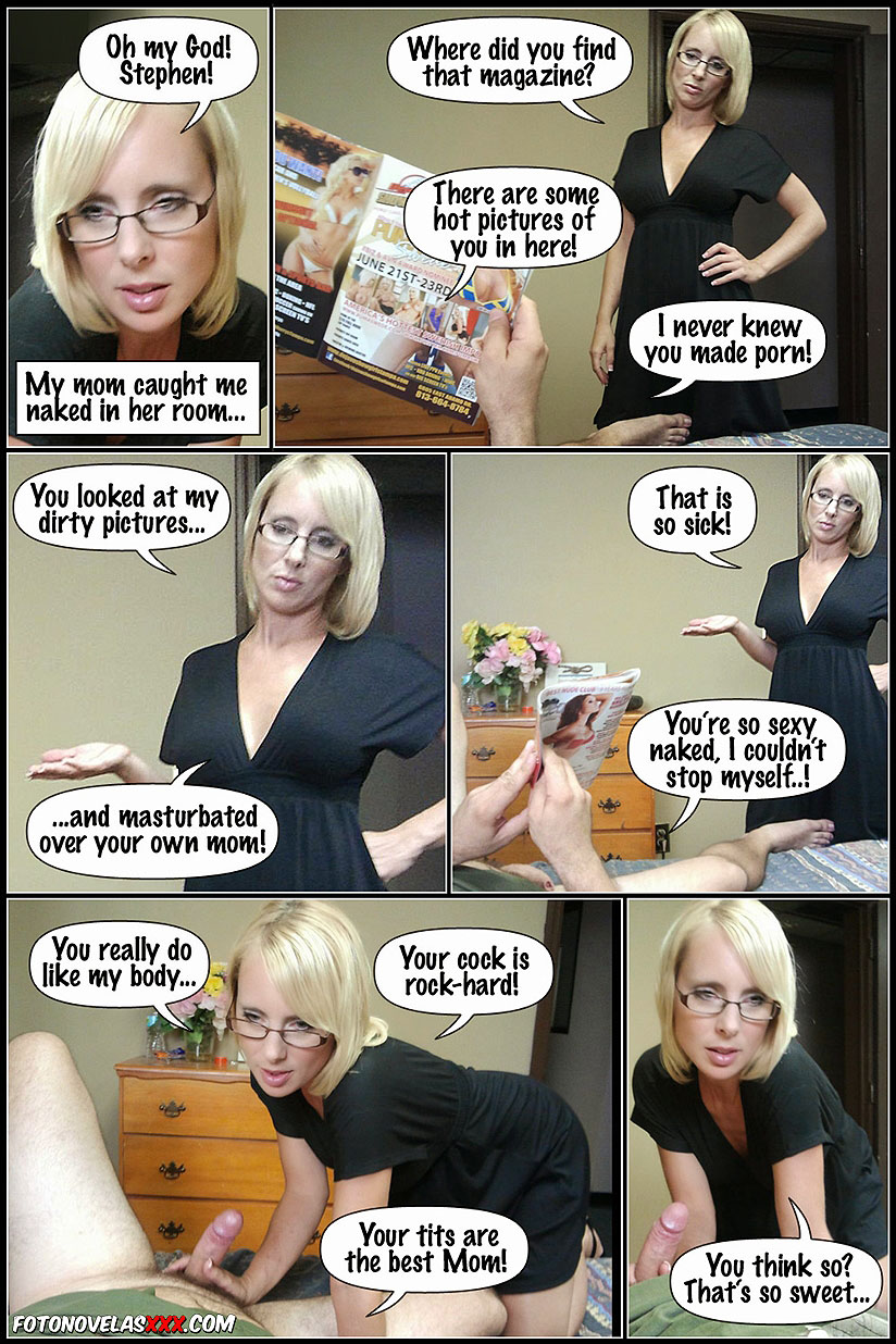 Nude Comic Porn mom catches him masturbating | mothers porn comics