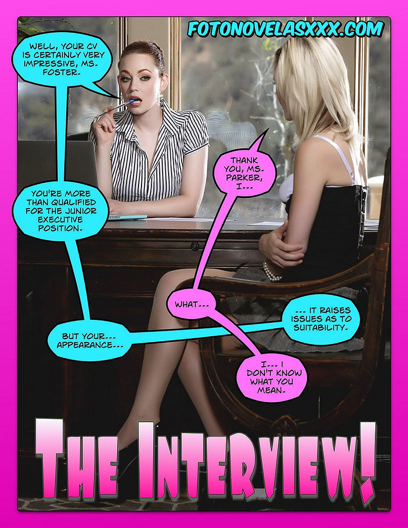 the interview photo comic pag1