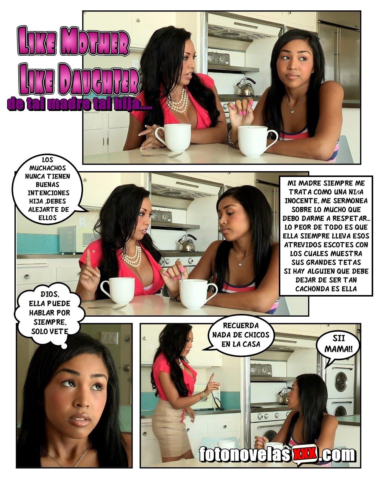A Madre Porno de tal madre tal hija foto historia xxx de incesto trio