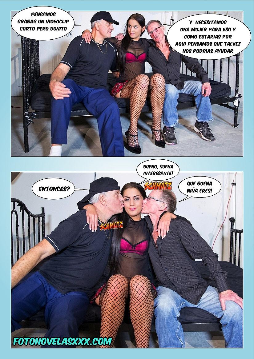 el semen del abuelo foto-comic pag3