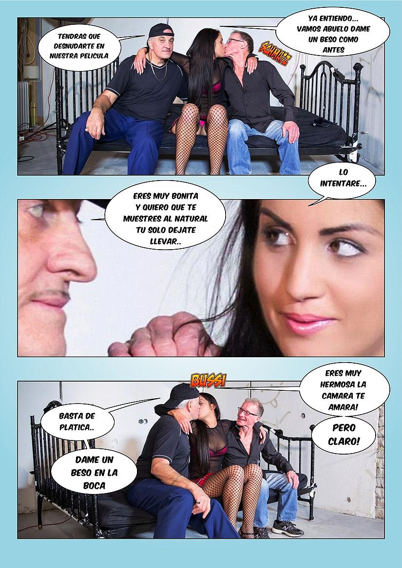 el semen del abuelo foto-comic pag4