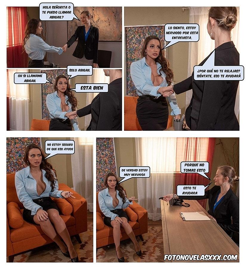 entrevista de trabajo foto-comic pag1
