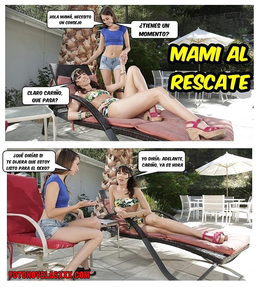 mami al rescate comic lesbico pag1