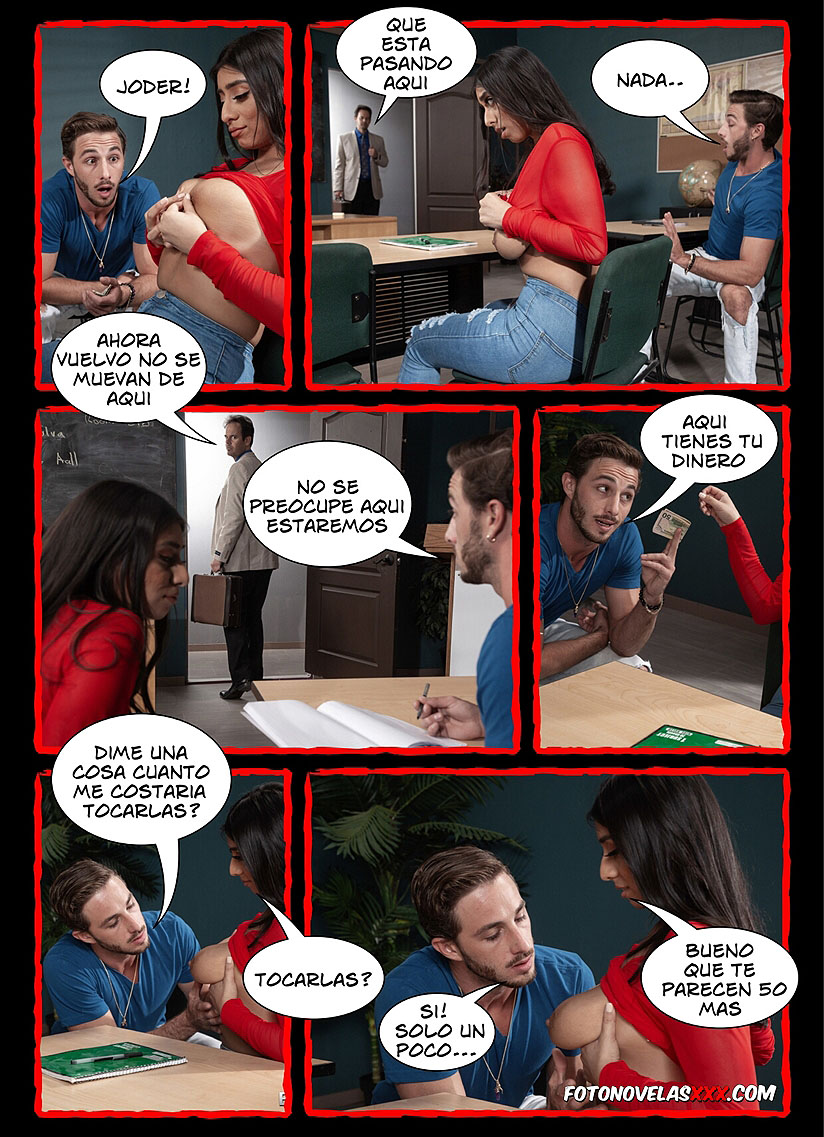 sexo duro en el aula comic pag9
