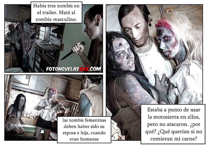 chicas zombies folladas comic pag1