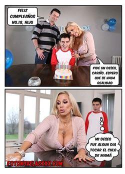 cumpleaños incestuoso con mama